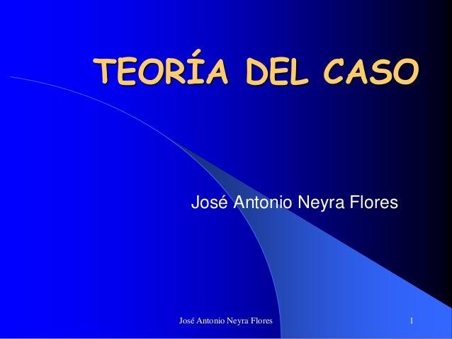 José Antonio Neyra Flores 1 TEORÍA DEL CASO José Antonio Neyra Flores