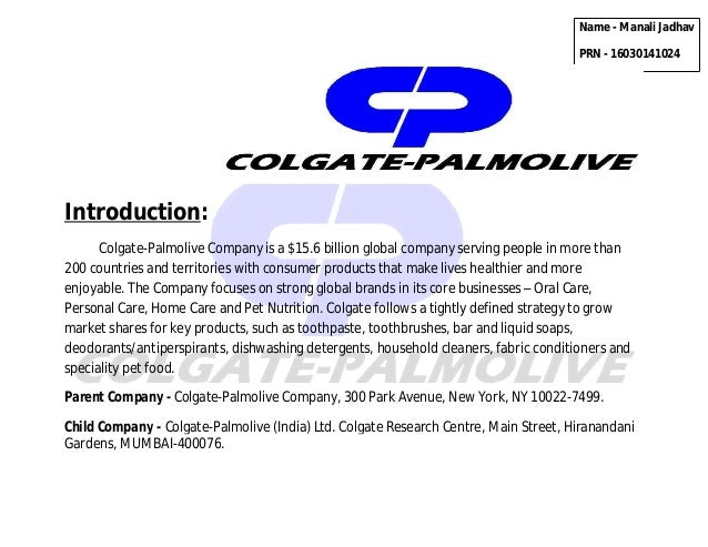successful marketing strategy with colgate palmolive Colgate-palmolive people, working around the world, share a commitment to  their  strategic vision, with a recent focus on sap cloud platform and sap  hana.