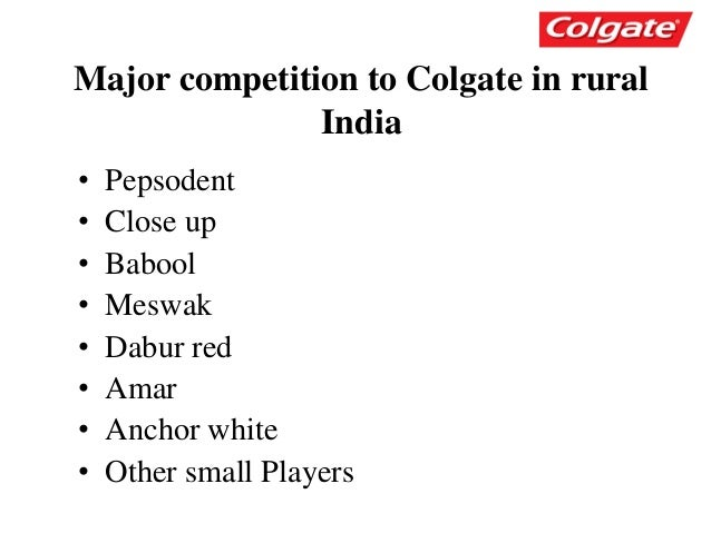 branding strategy of colgate Colgate-regaining market leadership in india's sensitive teeth market case  analysis  9 suggest a branding strategy for cp's sensitive toothpaste line.