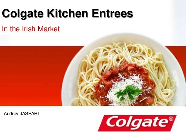Colgate Kitchen Entrees In the Irish Market Audrey JASPART