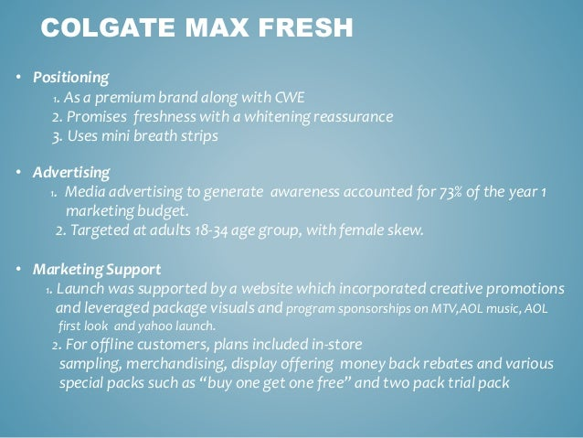 were cp china s changes to the cmf marketing launch program justifiable Colgate max fresh case hand-out from the cmf marketing program for the usa launch six procter & gamble cp's market position in china is more.