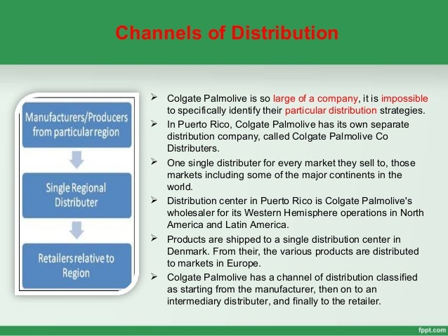 Supply chain strategy of colgate palmolive commerce essay