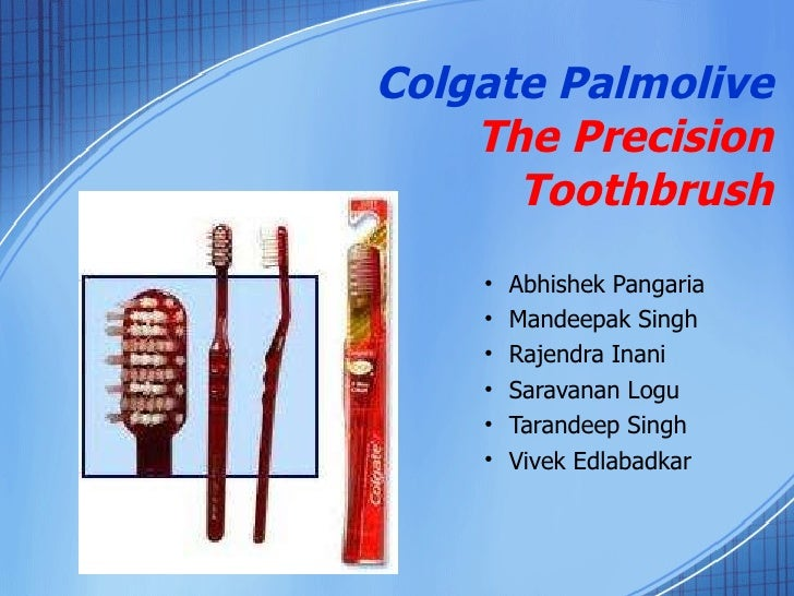 case analysis of colgate palmolive precision toothbrush