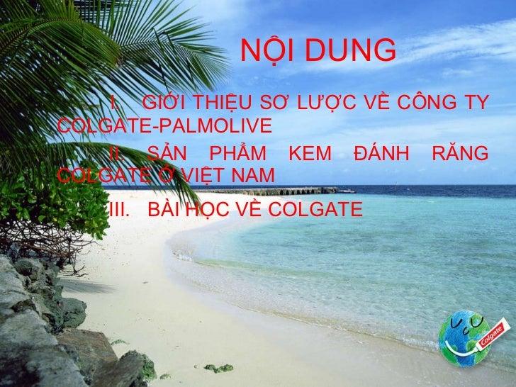 Colgate palmolive (việt nam ) Slide 2