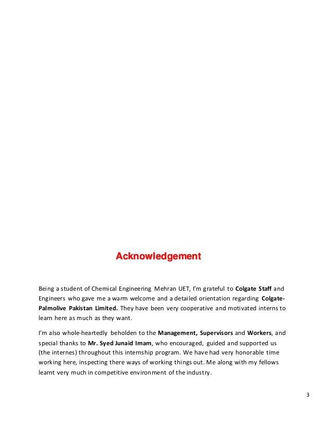 Colgate Palmolive Pakistan Pvt Ltd Internship Report 2017