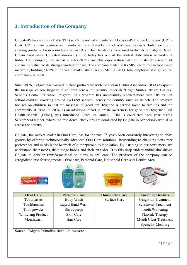 palmolive case analysis View essay - case_analysis_colgate-palmolive_precisio from management 1 at management development institute case analysis: colgate-palmolive precision toothbrush monique priestley winter 2011: mcdm.