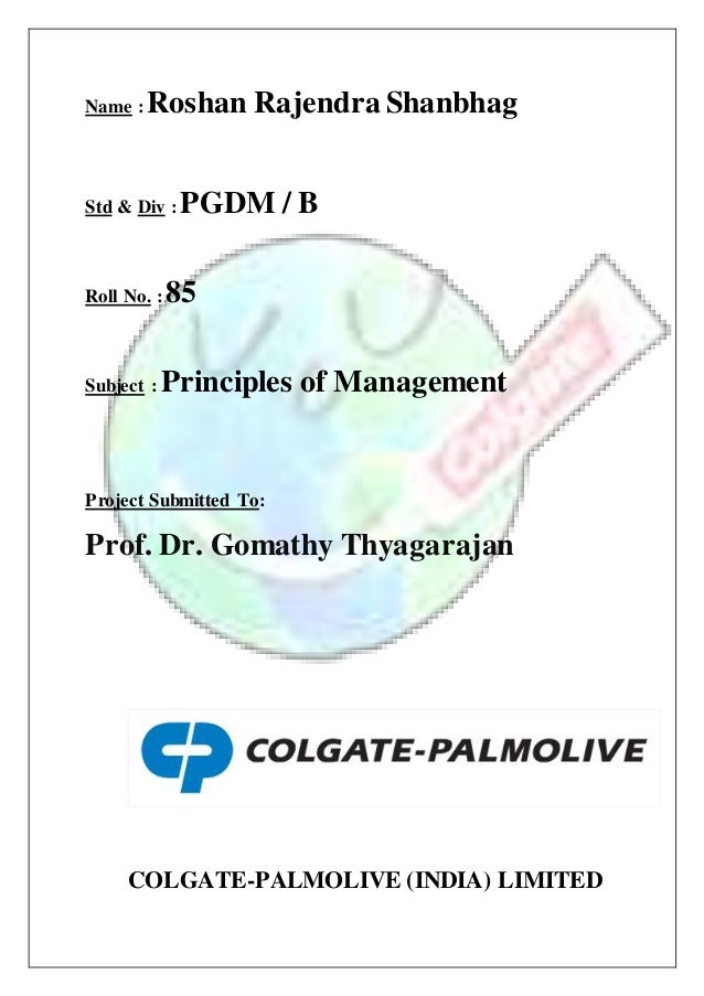 Colgate Palmolive (India) Limited