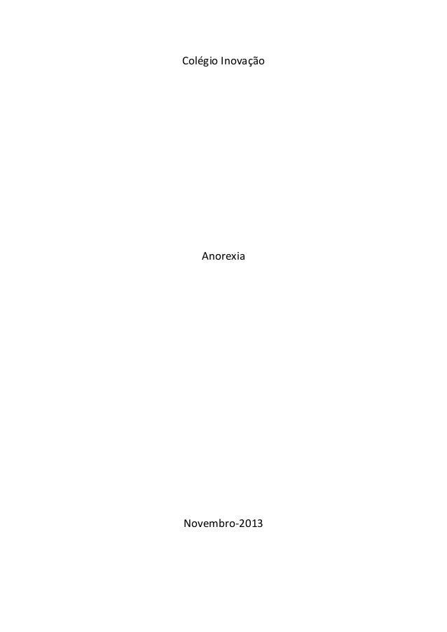 Colégio Inovação Anorexia Novembro-2013