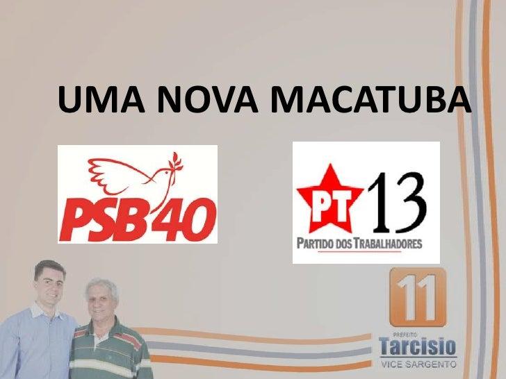 UMA NOVA MACATUBA