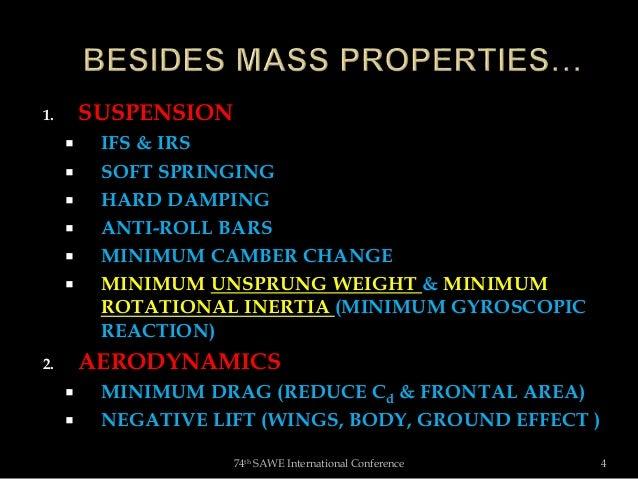Colin Chapman and Automotive Mass Properties