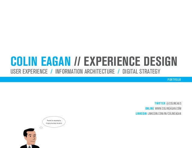 colin eagan // experience designuser experience / iNFORMATION ARCHITECTURE / digital strategy                             ...