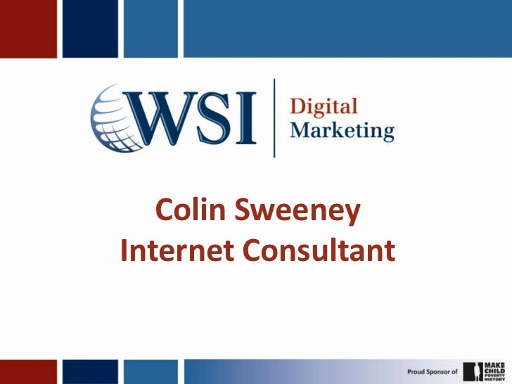 Colin SweeneyInternet Consultant<br />