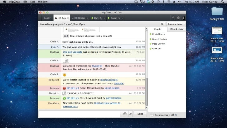 How HipChat Powers the HipChat Team - Atlassian Summit 2012