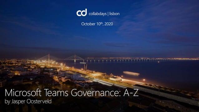 Microsoft Teams Governance: A-Z by Jasper Oosterveld