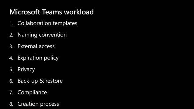 Microsoft Teams workload