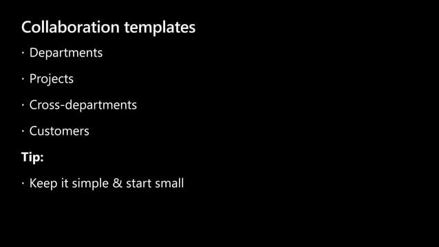 Collaboration templates