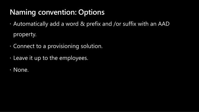 Naming convention: Options