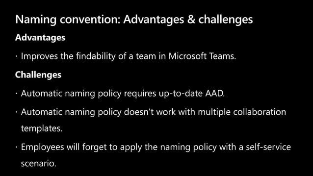 Naming convention: Advantages & challenges