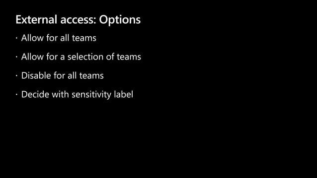 External access: Options