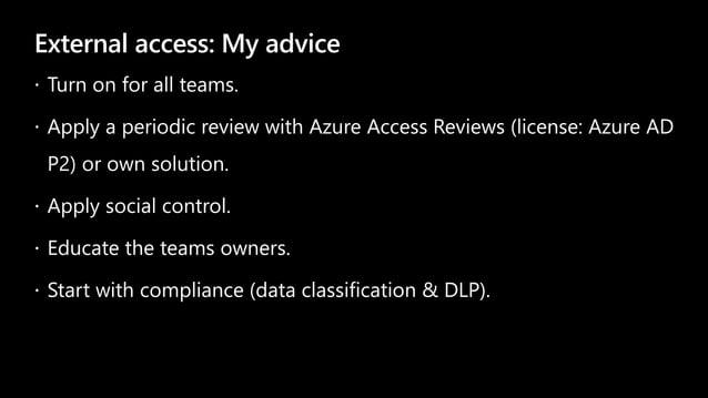 External access: My advice