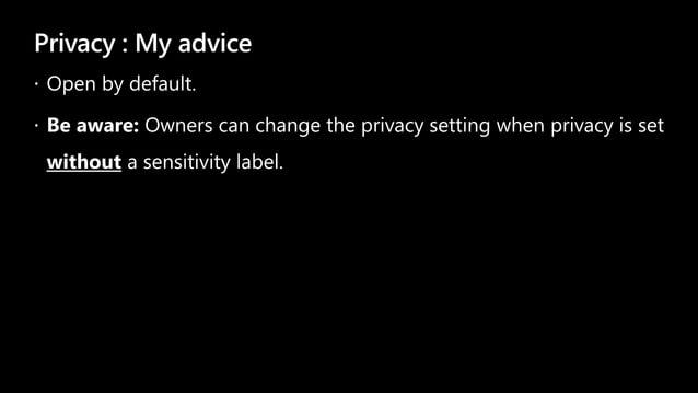 Privacy : My advice