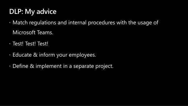 DLP: My advice