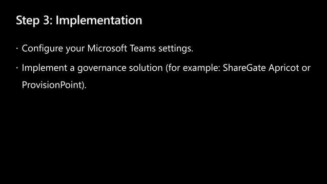 Step 3: Implementation