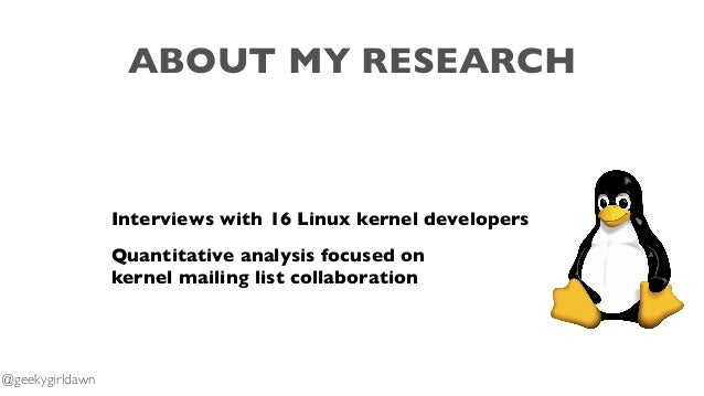Collaboration in Linux Kernel Mailing Lists  Slide 3