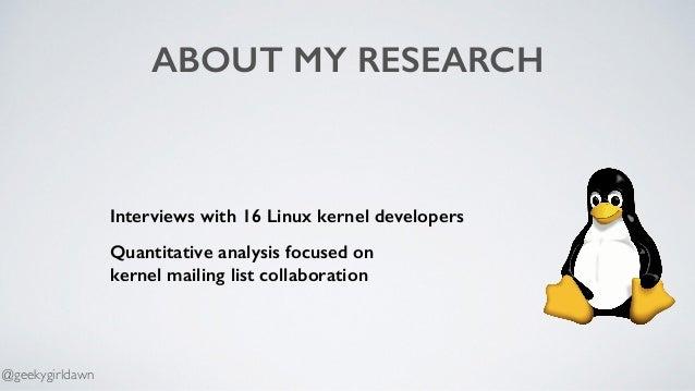 Collaboration in inux Kernel Mailing Lists 2018 Slide 3