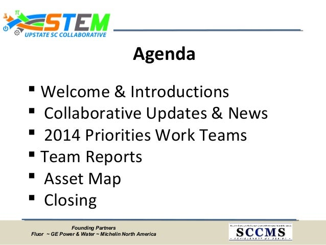 Upstate SC STEM Collaborative Meeting Minutes - March 21, 2014 Slide 2
