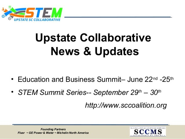 Upstate SC STEM Collaborative Meeting Minutes - March 21, 2014 Slide 3