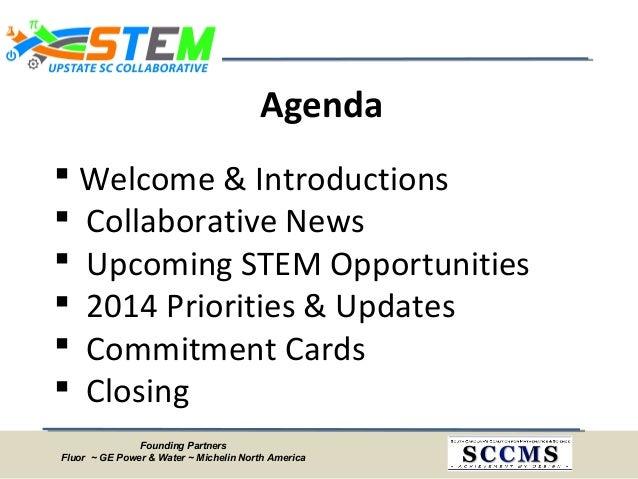 Upstate SC STEM Collaborative Meeting Minutes - February 28, 2014 Slide 2