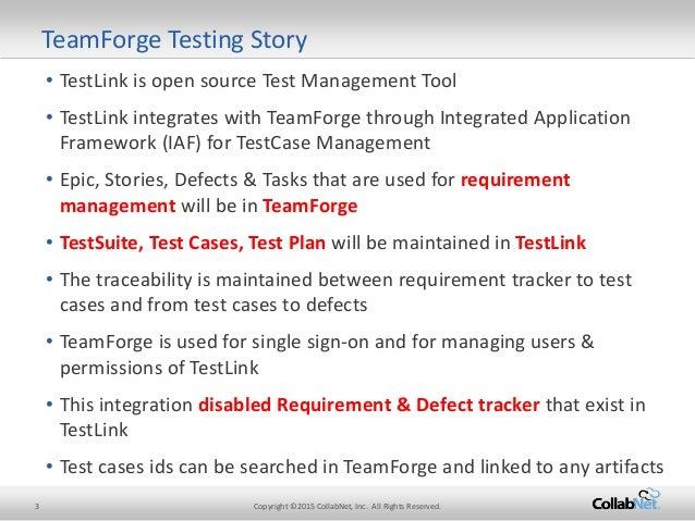 Testlink Test Management with Teamforge
