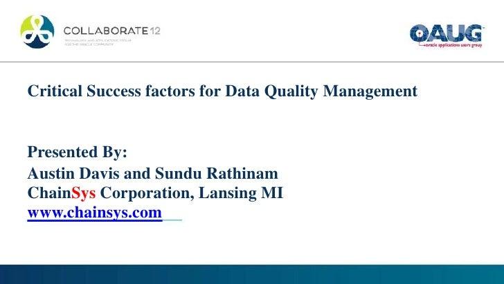 The critical success factors of tqm