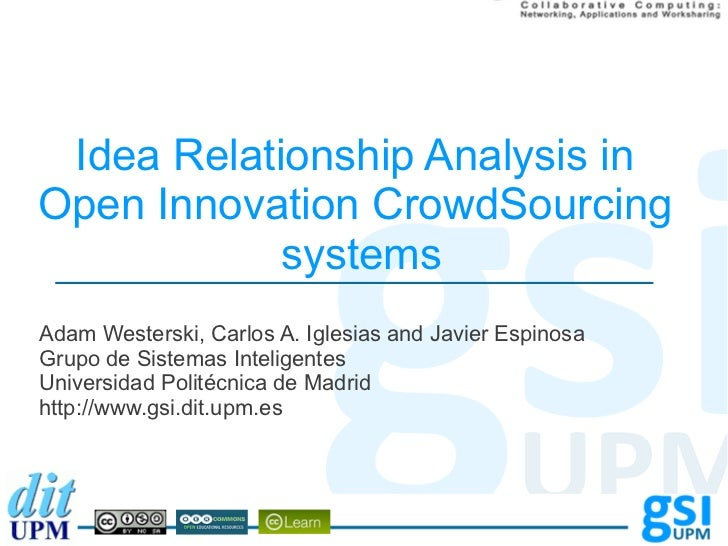 Idea Relationship Analysis inOpen Innovation CrowdSourcing            systemsAdam Westerski, Carlos A. Iglesias and Javier...
