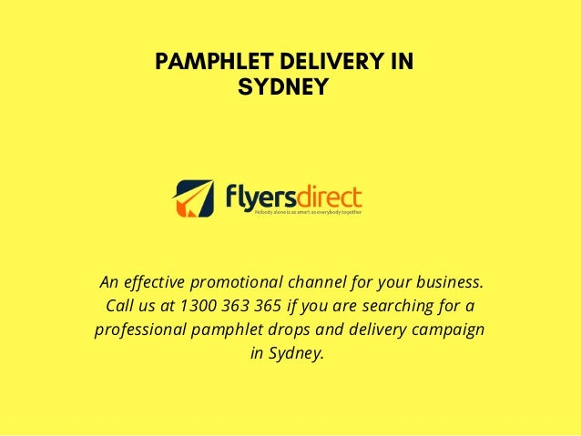 collaborate with professionals of pamphlet delivery in sydney