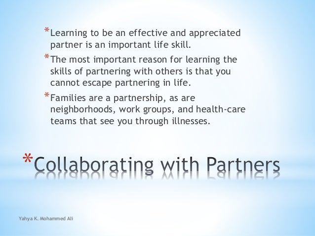 Collaborating with partners Slide 2