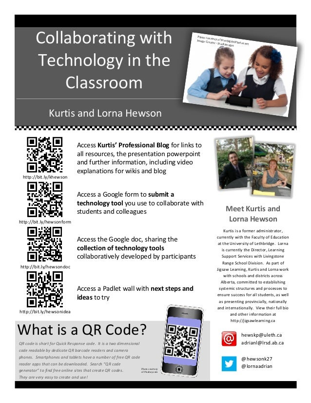 Collaborating  with   Technology  in  the   Classroom    Photo  c ou rtesy  of  F reeDigital Image  ...