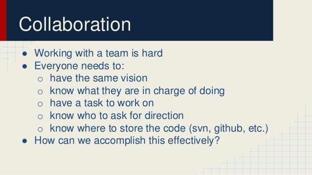 Video Game Collaboration Slide 2