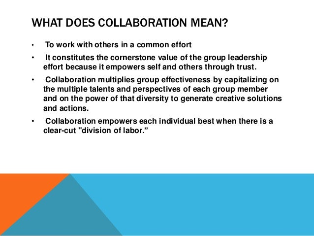 Collaboration and common purpose leadership institute workshop fall - What is the meaning of commode ...