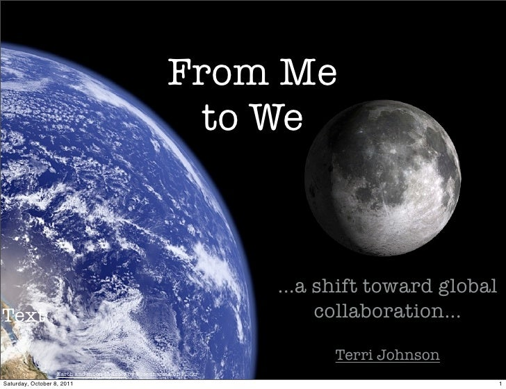 From Me                                                        to We                                                      ...