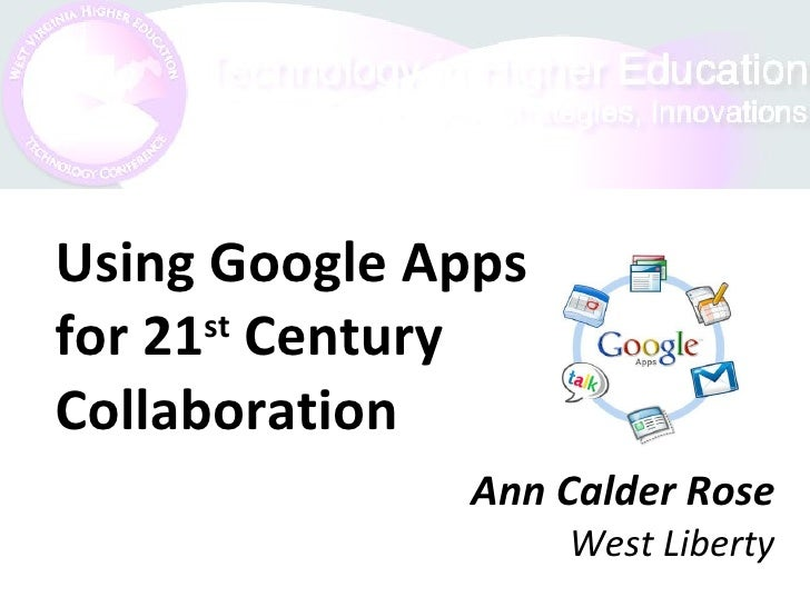 Ann Calder Rose West Liberty Using Google Apps for 21 st  Century Collaboration