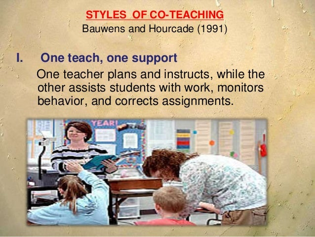 II. Station teaching --Curricular content is divided into two parts. One teacher teaches the first part to half the studen...