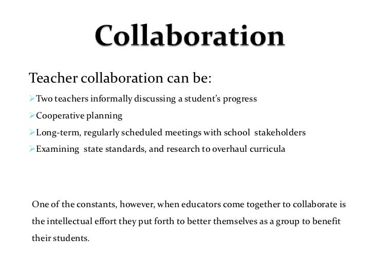 Collaborative Teaching Benefits To Students ~ Collaboration friday