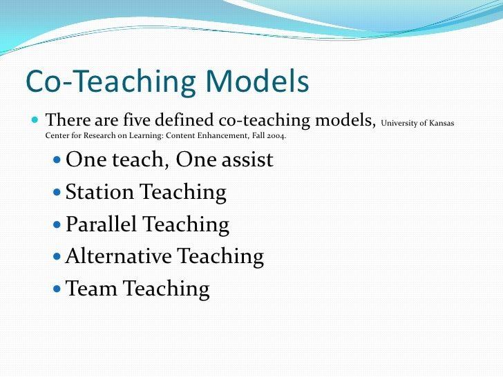 Collaborative Co Teaching Model ~ Collaboration in education