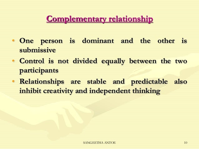 what is a symmetrical relationship and complementary