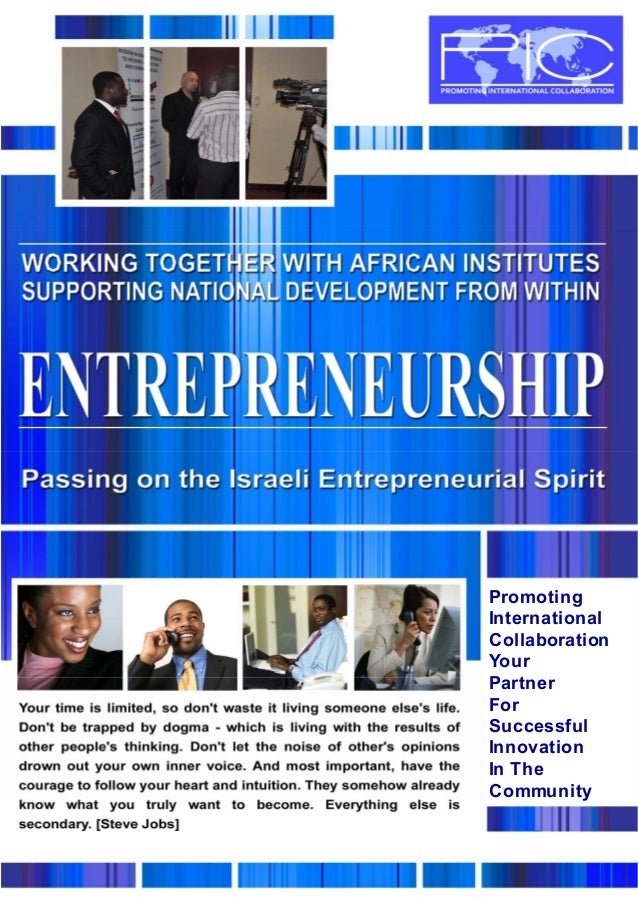 1 Promoting International Collaboration Your Partner For Successful Innovation In The Community