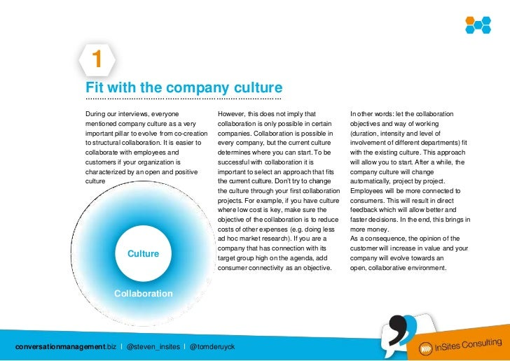 1                  Fit with the company culture                  ………………………………………………………………………                  During our i...