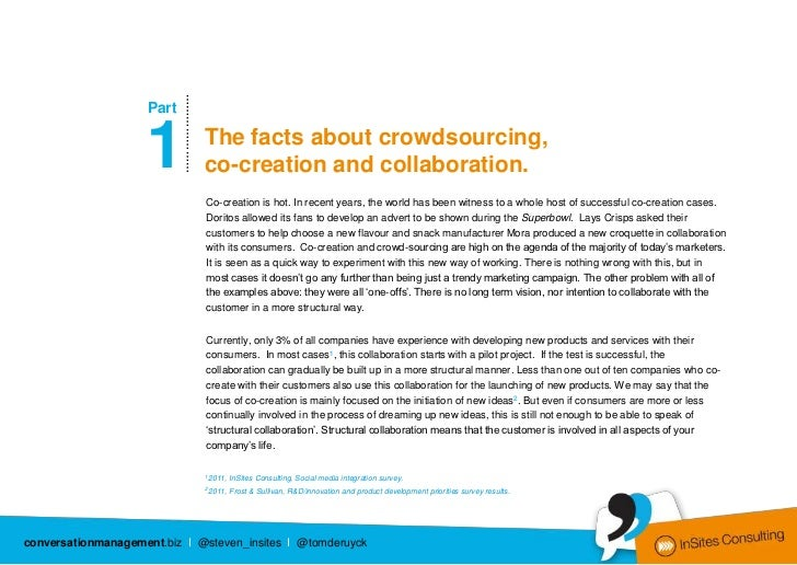 …………………                    Part                    1                The facts about crowdsourcing,                        ...