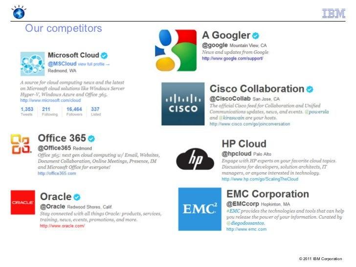Our competitors                  © 2011 IBM Corporation